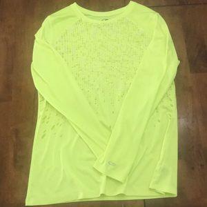 Champion Duo Dry neon yellow shirt
